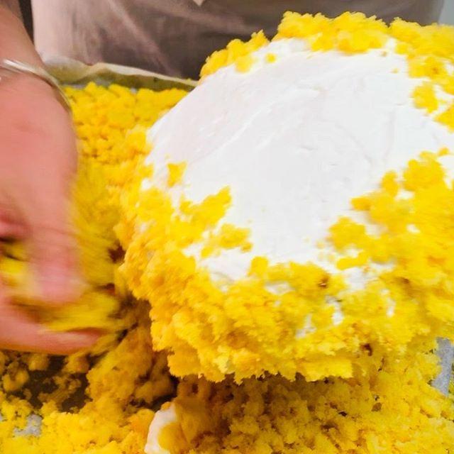 #buongiornogolosoni #workinprogress #festadelladonna #8marzo #tortamimosa @si.mo.ne.80 #noncifermiamo #pastrypassion #italianpastry #pasticceriapeggi #follonica