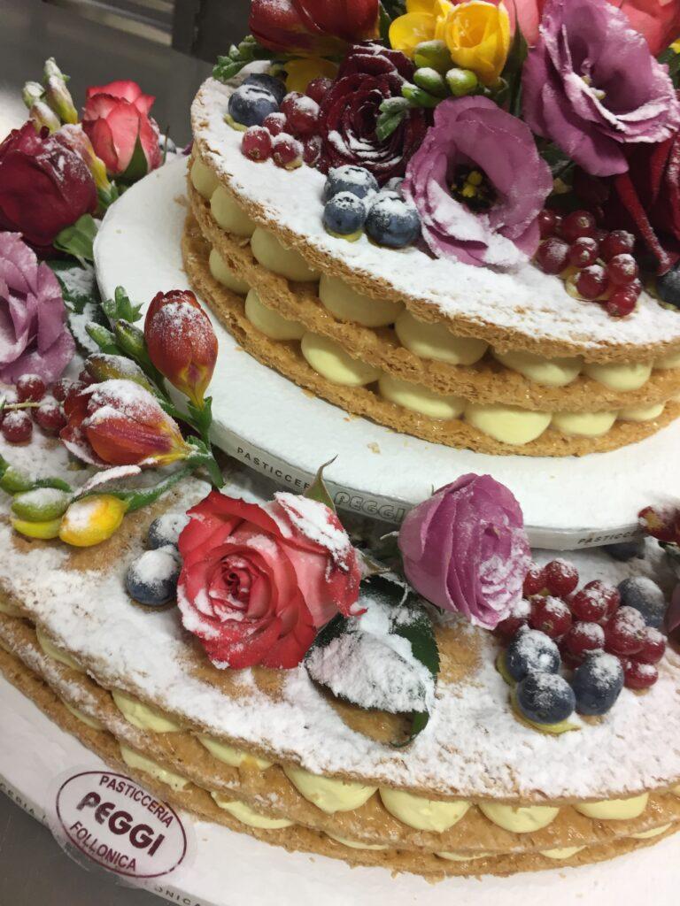wedding cake millefoglie naked