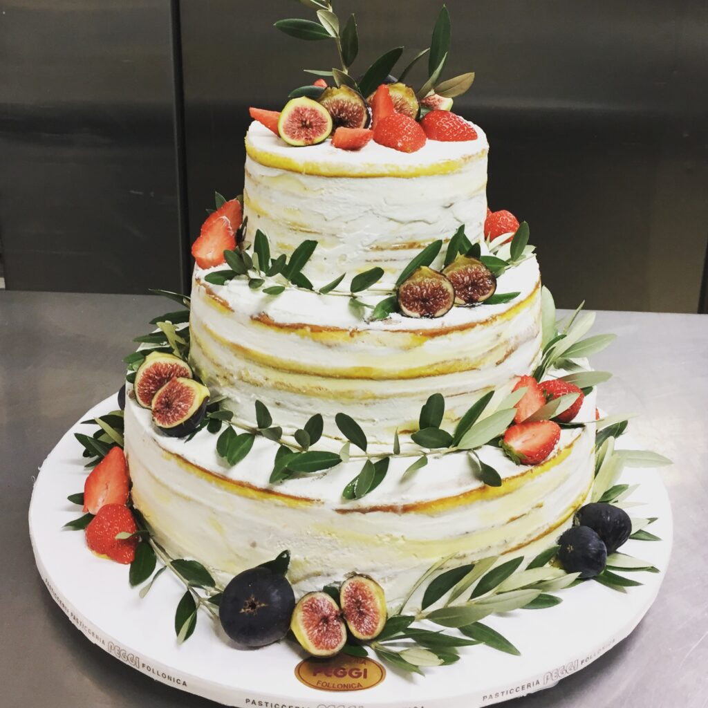 wedding cake naked e ulivo